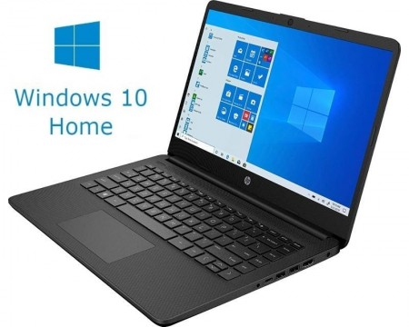 HP 14S-FQ0013DX 14 AMD Athlon 3050U 4GB 128GB SSD Win10Home crni