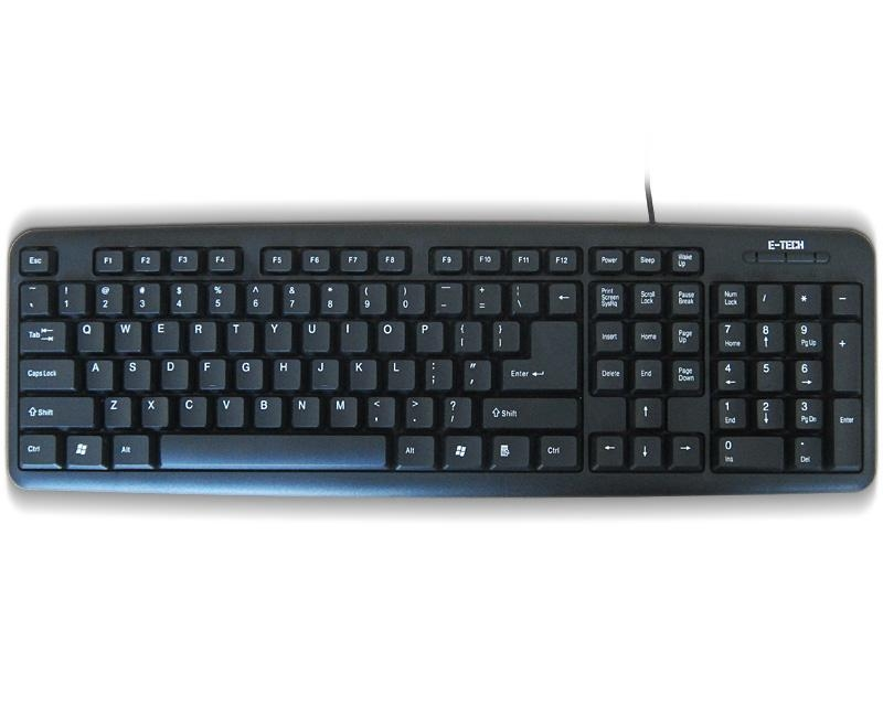 ETECH E-5050 PS/2 YU crna tastatura (CYR)
