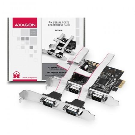 Kontroler PCI-Express --> 4 x Serial port AXAGON