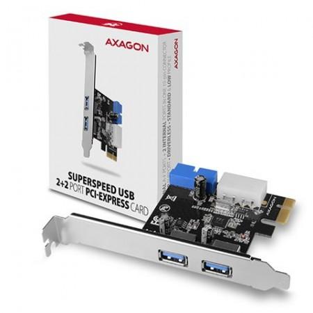 AXAGON PCEU-232VL PCIe Adapter USB 3.2Gen1 x4 (2xfront + 2xinternal)