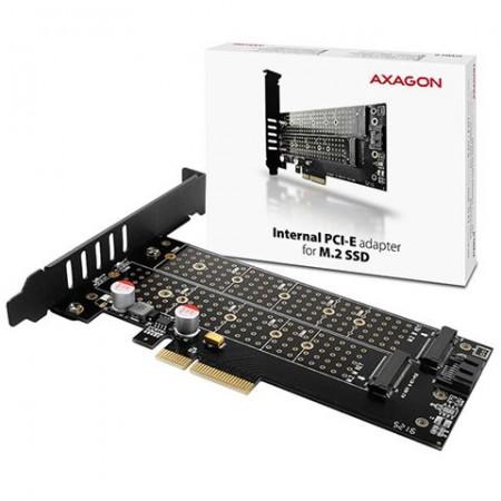 AXAGON PCEM2-D PCI-E 3.0 4x - DUAL M.2 SSD (NVMe + SATA)