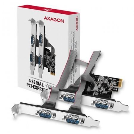 Kontroler PCI-Express --> 4 x Serial port + LP, AXAGON