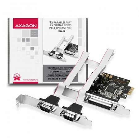 AXAGON PCEA-PS PCI-Express Adapter,1x Parallel+2xSerial+LP limić