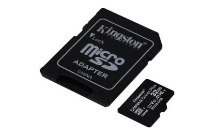 MICRO SD 32GB KINGSTON + SD adapter SDCS232GB