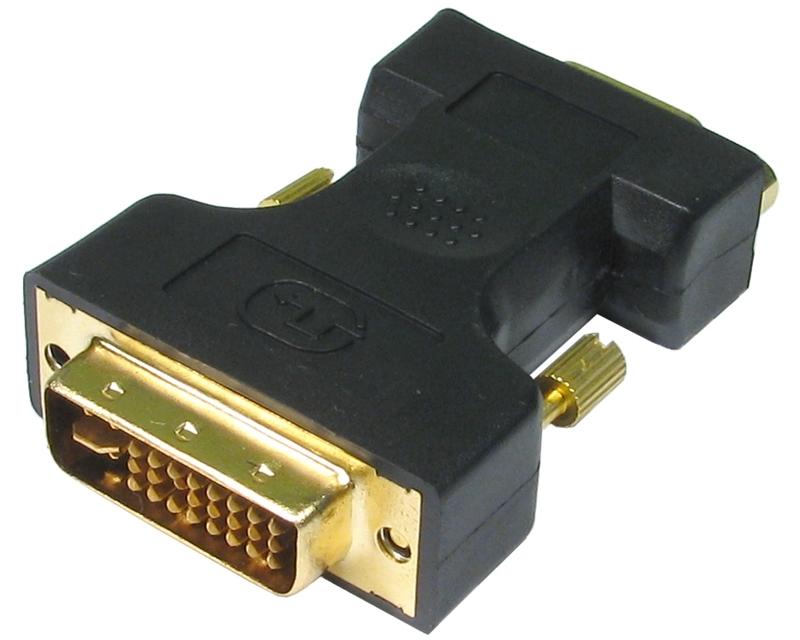 FAST ASIA Adapter DVI-I  (M) - VGA (F) crni