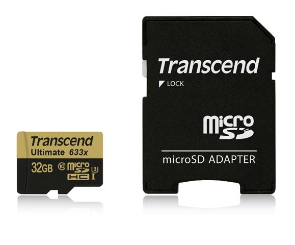 Mem. kartica Transcend SD MICRO 32GB HC UHS 1 U3 + SD adapter 633x