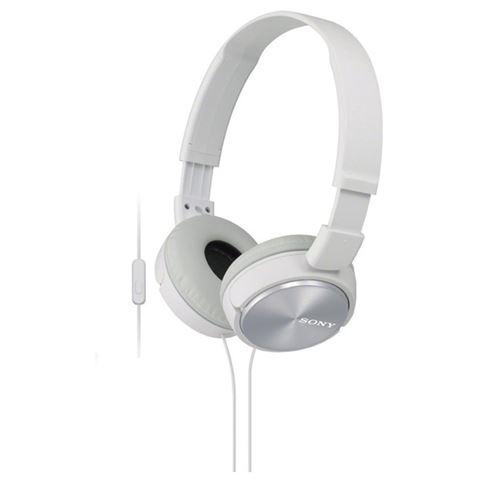 SONY slušalice MDR-ZX310APW white sa mikrofonom