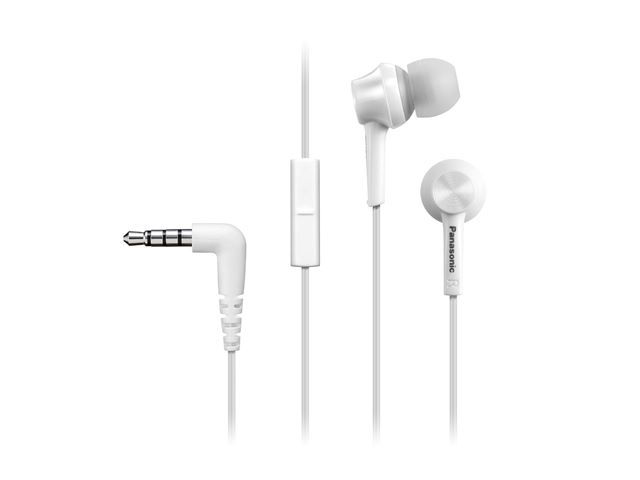 PANASONIC slušalice sa mikrofonom RP-TCM105E-W bele