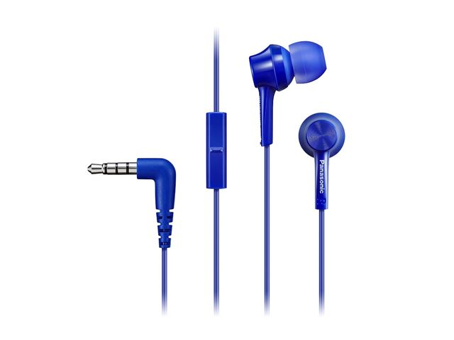 PANASONIC slušalice sa mikrofonom RP-TCM105E-A plave