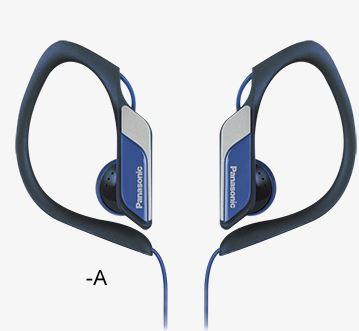 PANASONIC slušalice RP-HS34E-A plave, sportske, vodootporne