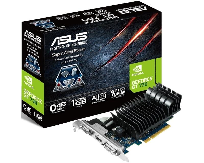 ASUS nVidia GeForce GT 730 1GB 64bit GT730-SL-1GD3-BRK