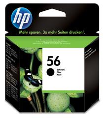 HP No.56 Black InkJet Print Cartridge DJ/5150/5550/5850/9650/9570/9680/Offi.Jet 4255/5610 [C6656AE]